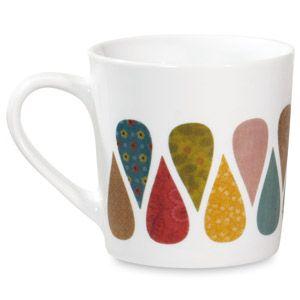 Mug en porcelaine blanche motifs gouttes multicolores Mini Labo