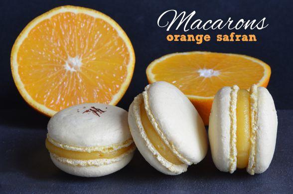 Délicieuse recette de macarons à l'orange et au safran, une petite merveille sucrée, bien parfumée et entièrement réalisée avec le Cooking-Chef de Kenwood.