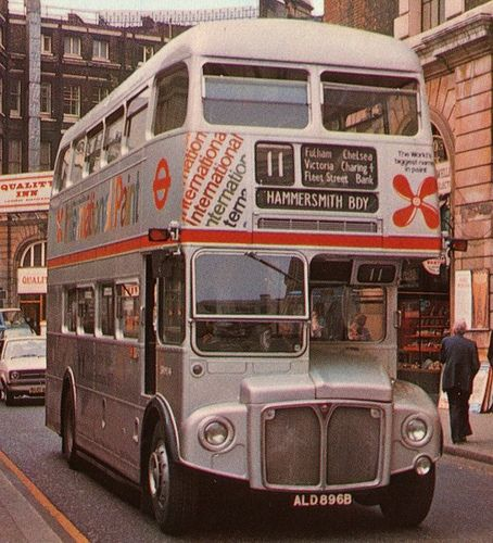 1977 London Routemaster (one of 17 specially painted silver for the Queen's Jubilee)