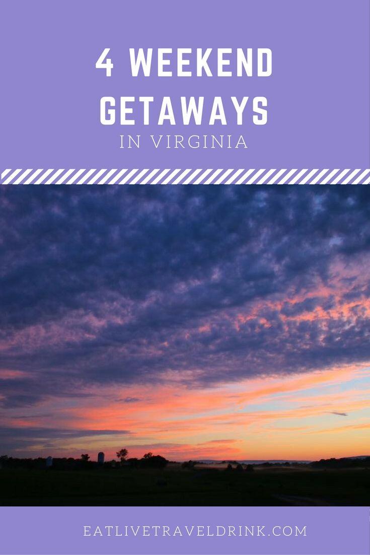Four different weekend getaways to take in Virginia