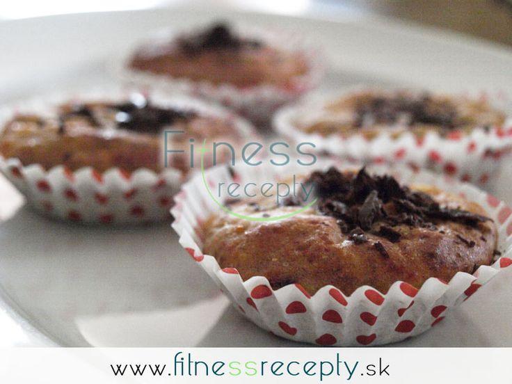 Zdravé fitness recepty - Banánovo - tvarohové muffiny