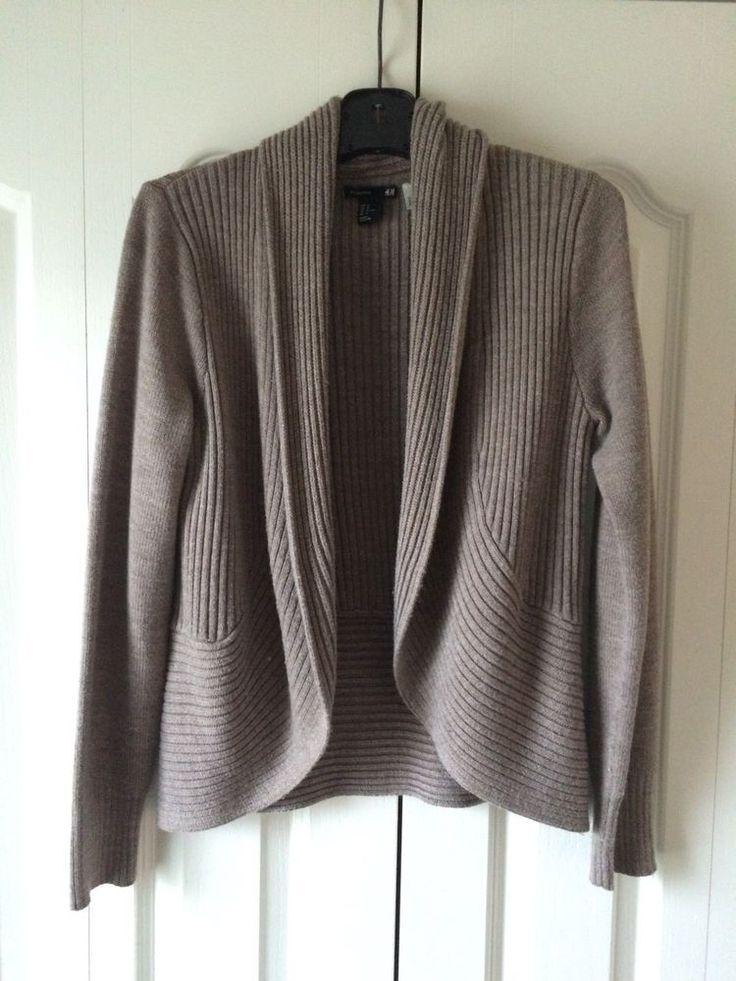 H&M Cardigan Sweater Beige Women LS Size M EUC