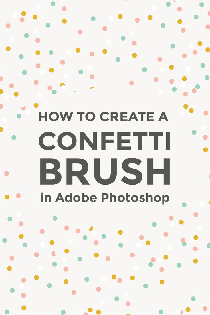 Make your photos and graphics stand out with digital confetti. Learn how to create a confetti brush in Adobe Photoshop using the basic brushes.