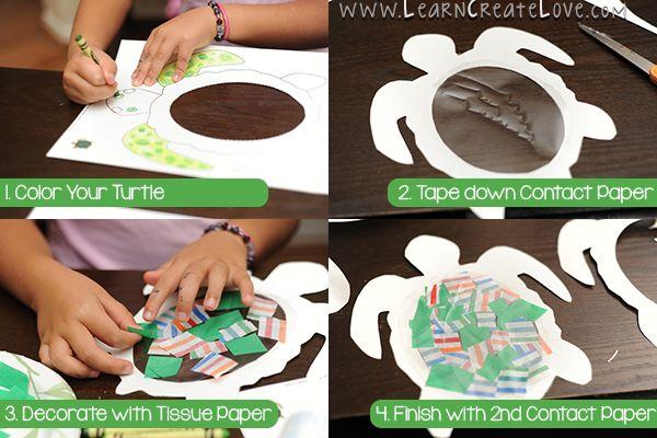 Sea Turtle Sun-Catcher Craft