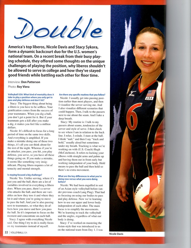 An interesting read from USA Volleyball Magazine...Part I