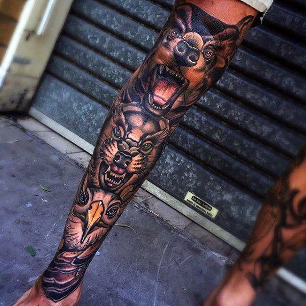 32e3b301b6 90 Knee Tattoos For Men - Cool Masculine Ink Design Ideas - #Cool #Design