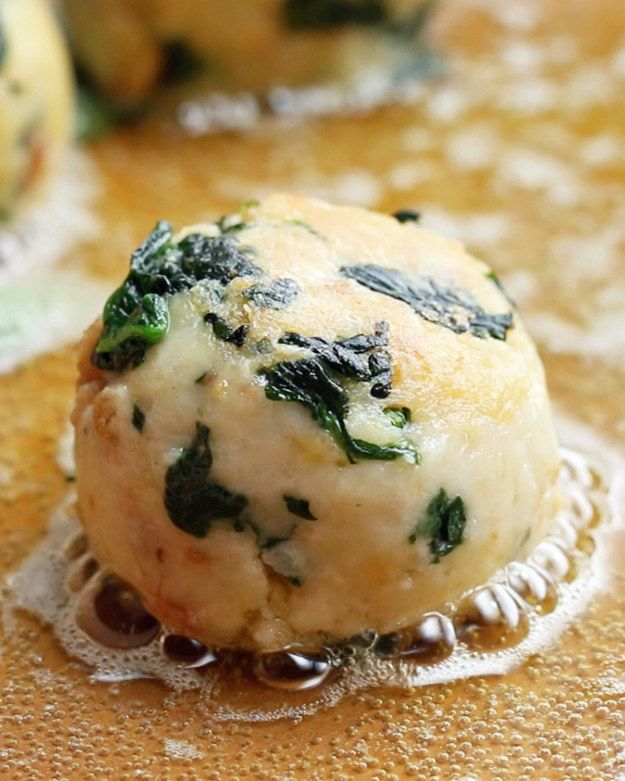 Spinach And Cheese Bread Dumplings