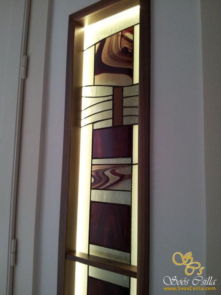 Moderná Vitráž Výplne Predeľovacieho Okna http://sk.sooscsilla.com/vyroba-vitraze-okien-a-dveri/ http://sk.sooscsilla.com/portfolio/moderna-vitraz-vyplne-predelovacieho-okna/