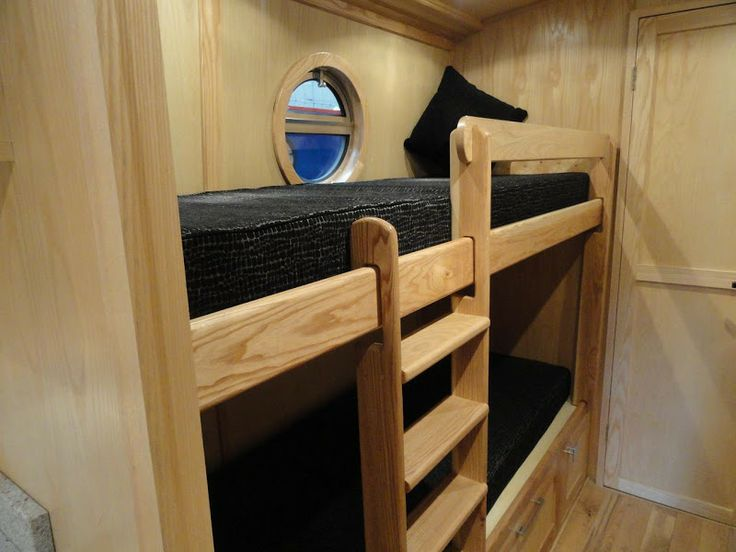 Nice bunks with built in steps by Aintree Boats, Liverpool