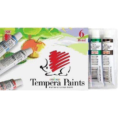 Ico süni színes tempera készlet 6 színű 16 ml alumínium tubusban - Tempera készlet Ft Ár 849