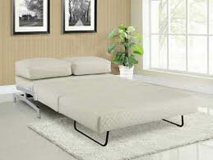 White Convertible Sofa Bed for Small Spaces