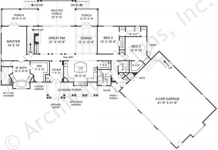 22 best open floor plans images on pinterest for Fairhope house plan