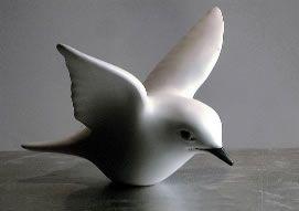 Hier zie je een plaatje van een vliegende vogel. Je kunt de vorm van het lijfje goed zien. Dit plaatje kan ik goed gebruiken.