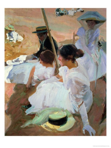 Under the Parasol, Zarauz, 1910 by Joaquin Sorolla y Bastida
