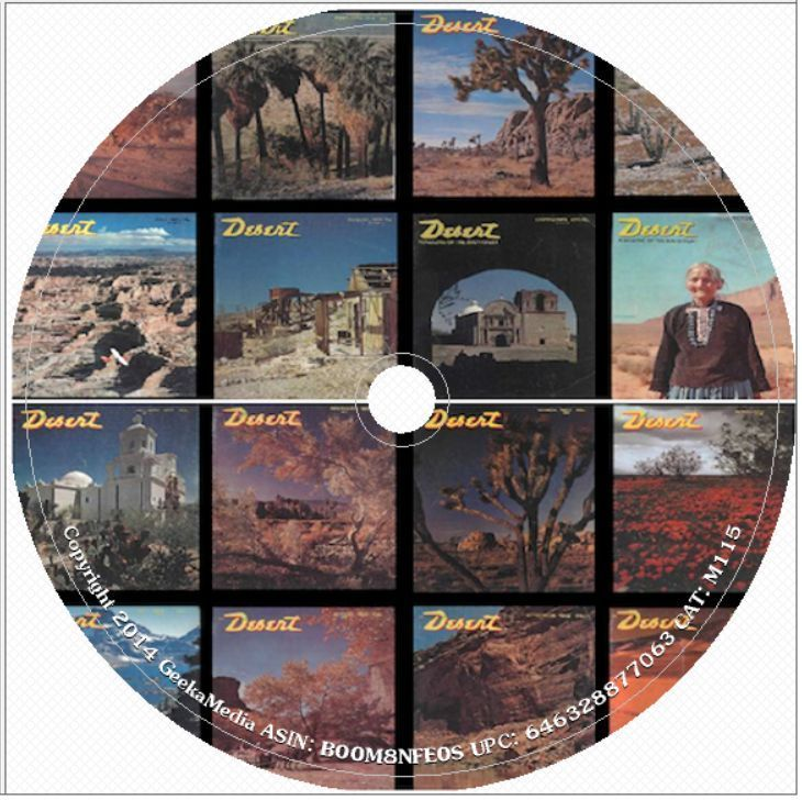 Desert Magazine 534 Issues 1937 - 85 DVD History Treasure Hunting Travel Style