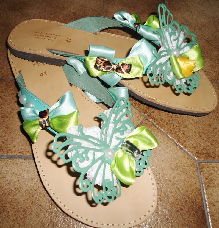 handmade fancy sandals with butterfly lace,bows and pearls only for pin up girls!!! #σανδαλια #χειροποιητα #summer #sandals #summersandals #butterfly #pinup #bows #handmade