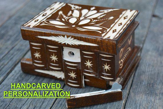 #Secret box #puzzlebox Thank You Gift Wooden jewelry box Mirrored box
