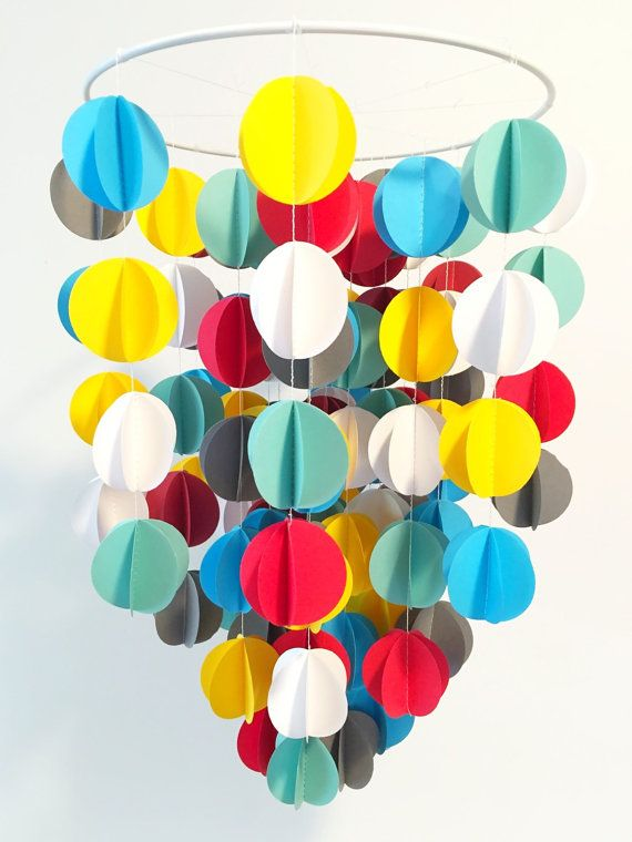 Back to basics primary colors nursery mobile Baby by merakiandco
