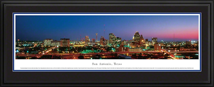 San Antonio, Texas Skyline Picture - Panoramic Picture $199.95