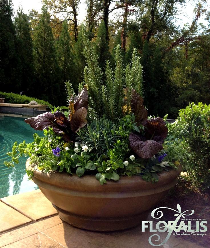 Fall Pool Bowl Planter