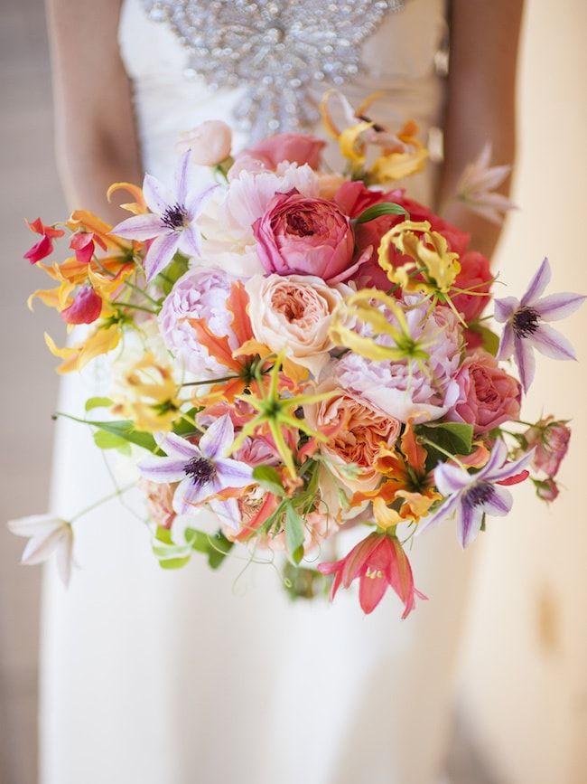 20 Bright Wedding Bouquets | SouthBound Bride | Credit: Waterlily Pond