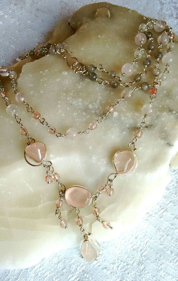 Hey, I found this really awesome Etsy listing at https://www.etsy.com/il-en/listing/203440300/rose-quarts-delicate-necklace-unique