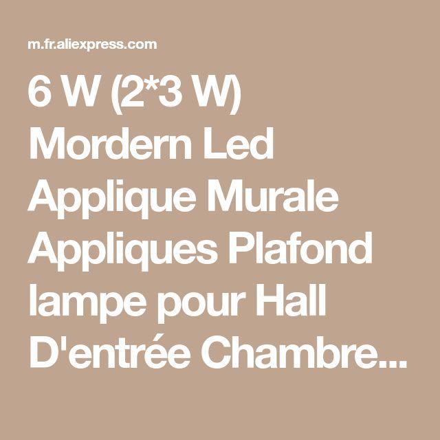 6 W (2*3 W) Mordern Led Applique Murale Appliques Plafond lampe pour Hall D'entrée Chambre couloir lampe toilettes lampe de lecture de la boutique en ligne | Aliexpress mobile #LampPlafond