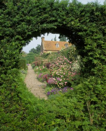 View From Cottage Garden To Rose At Castle Kent