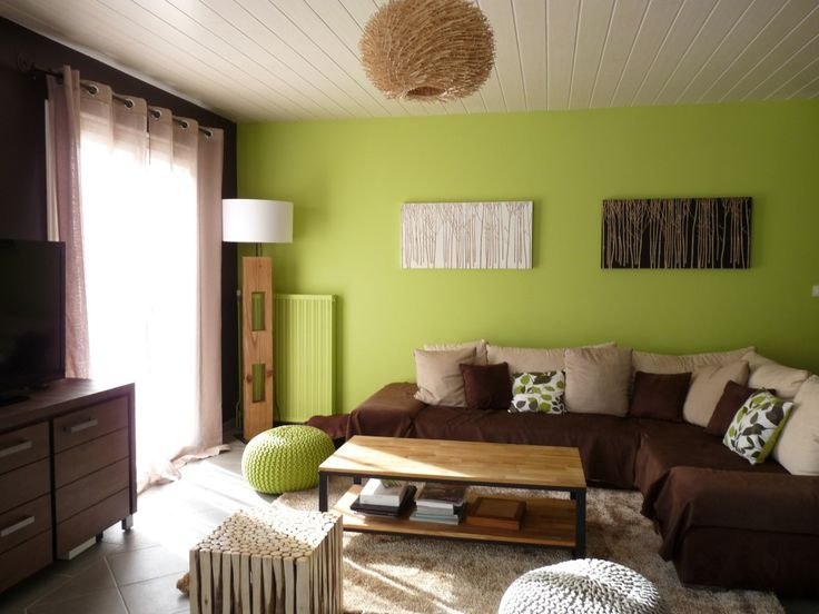 Deco Salon Vert Anis
