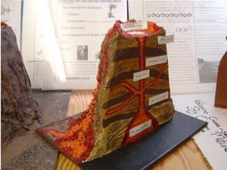 cross-section of a volcano - Google Search