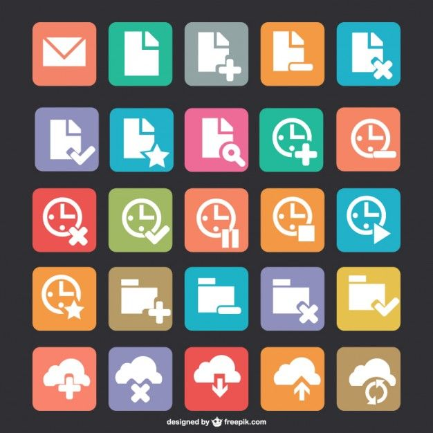 Free flat icons download