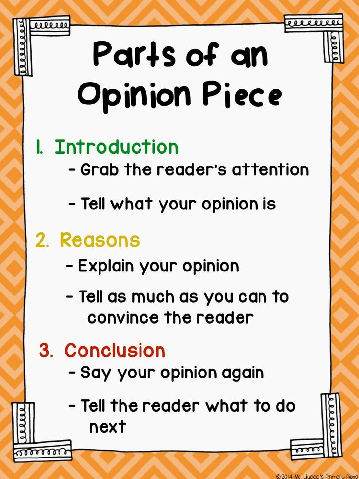 format for opinion writing
