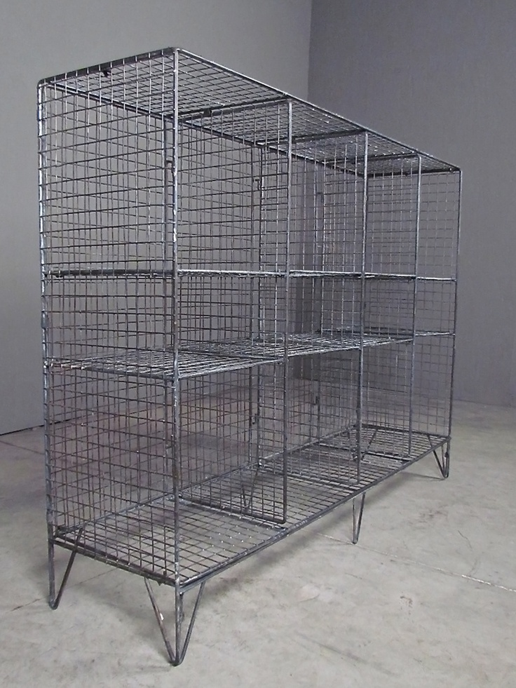 industrial shelving | redinfred  cubes + cubbies from industrially inspired metal mesh.  organize in style!