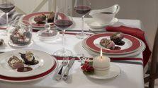 Feestelijk gedekte tafel:Villeroy & Boch