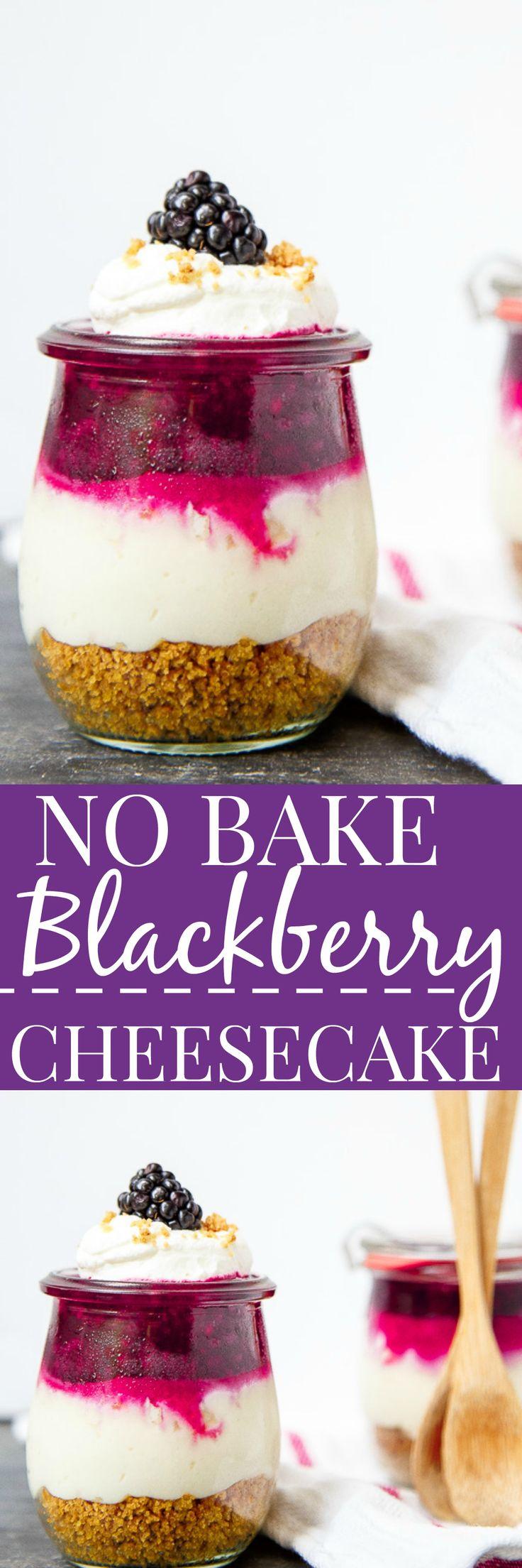 No bake cheesecakes in jars! Easy portable dessert idea for summer picnics. @DessertForTwo