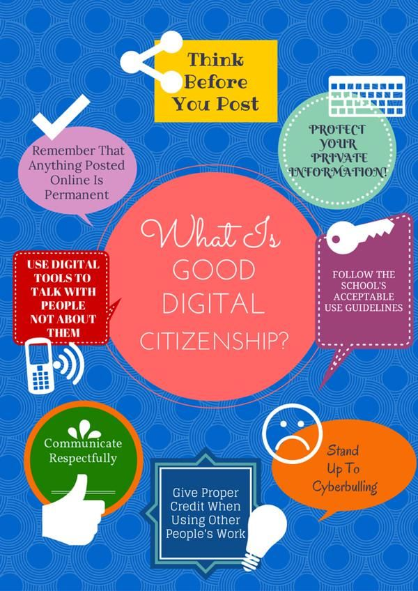 Teachers can ask their students about what they think is good digital citizenship. Students should be encouraged to think before they post and stand up to cyberbullying.