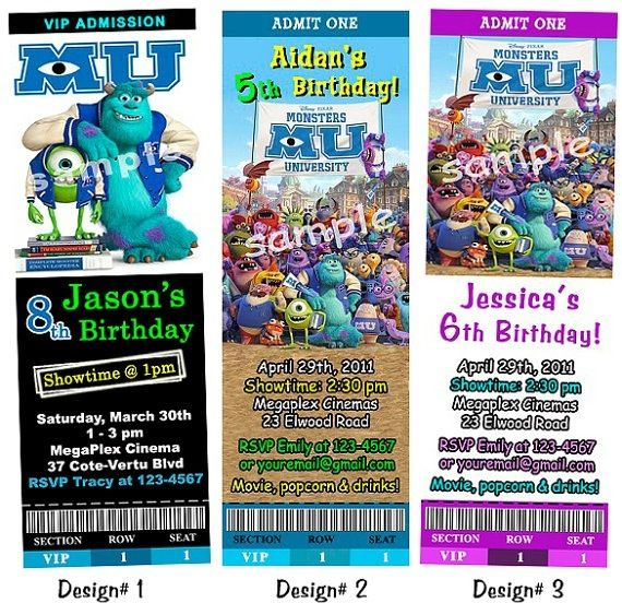 15 best Invitations images on Pinterest Birthday invitations - create your own movie ticket