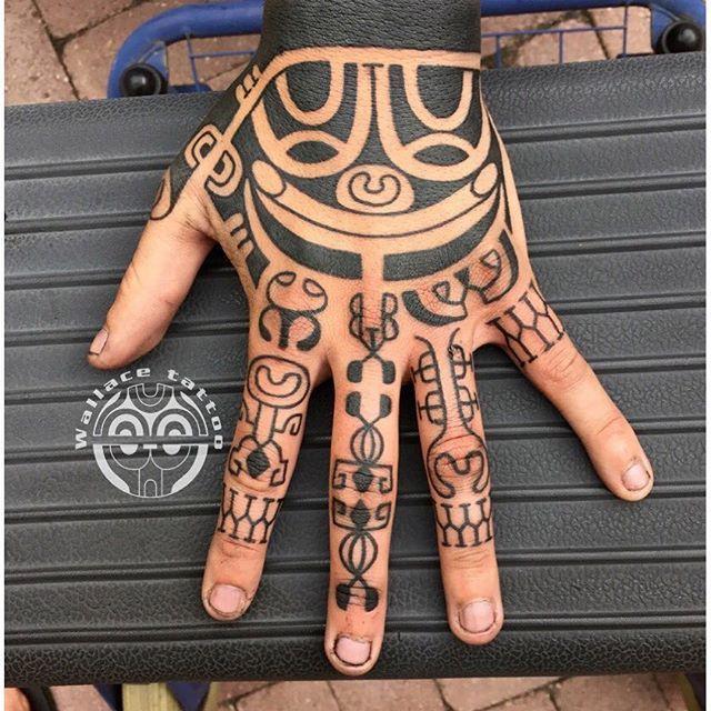 Rihanna Maori Hand Tattoo