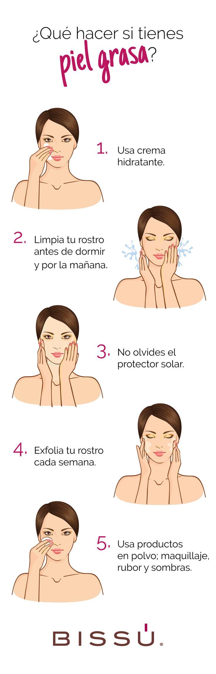 Usa los productos exactos para combatir la piel grasa.