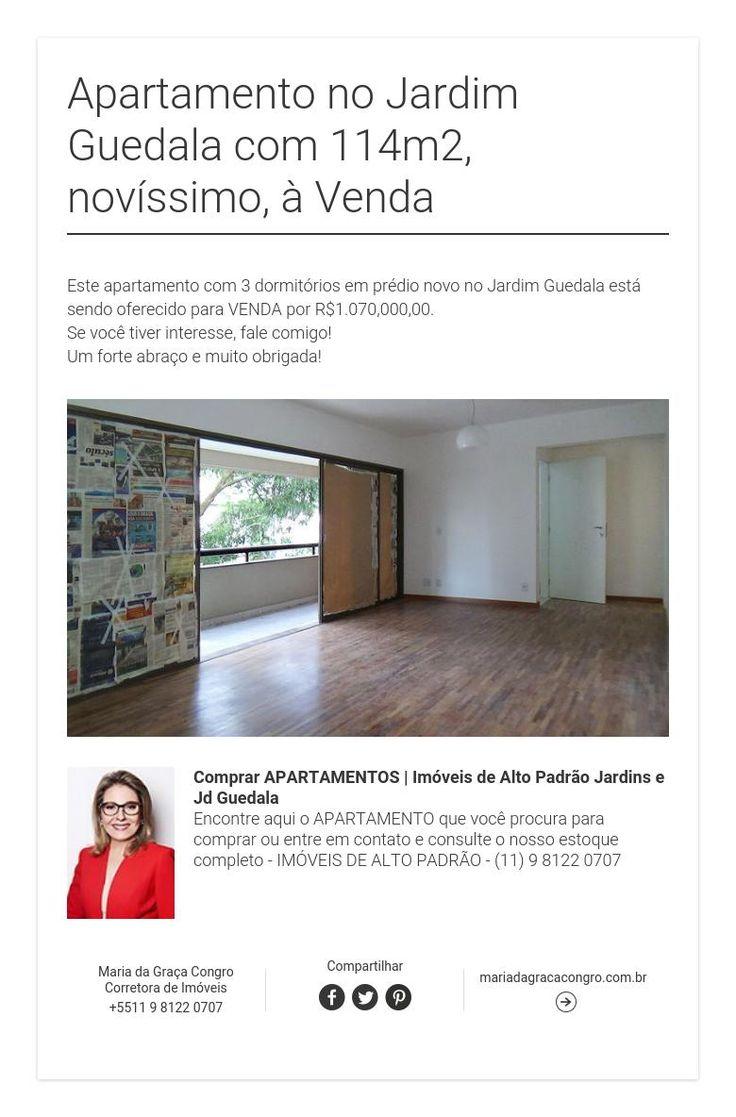 Apartamento no Jardim Guedala com114m2,novíssimo, à Venda