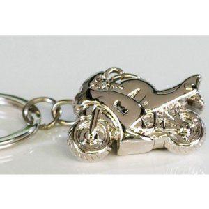 Casablanca Clé anhaänger Moto: Très beau porte-clés comme cadeau pour les fans de motard Porte-clés moto en métal Moto Dimensions: env. 3…