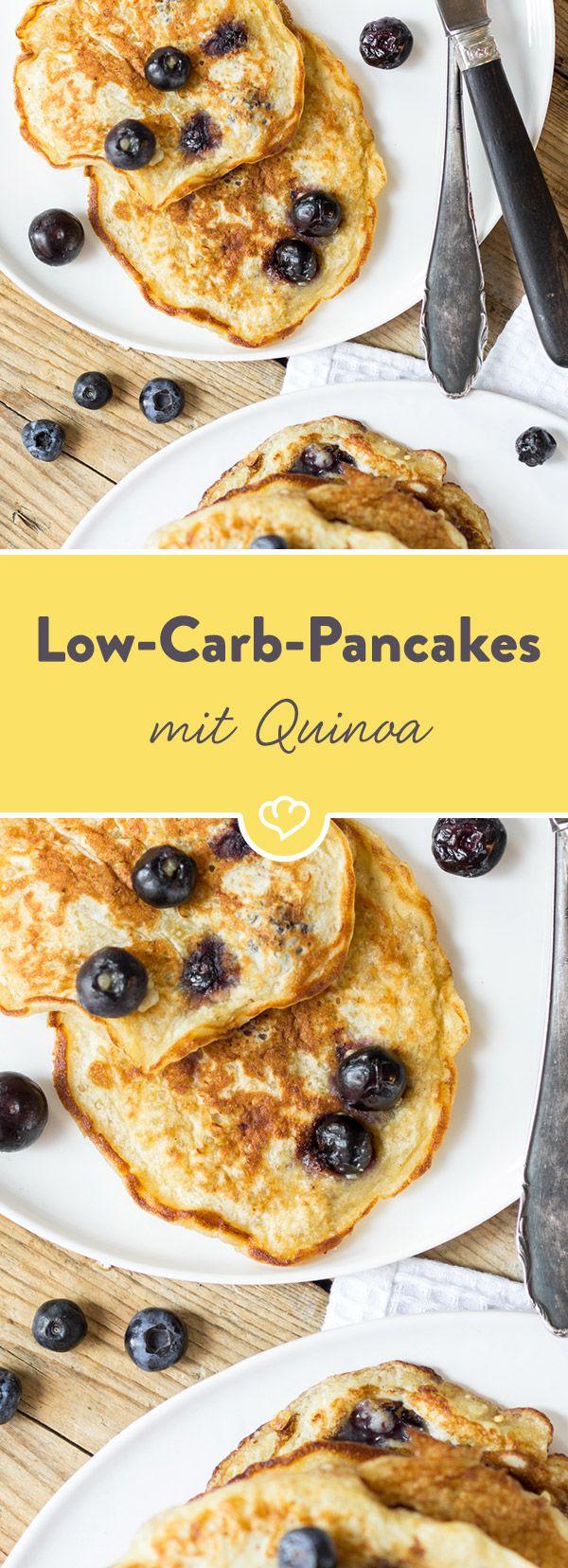 Und auf einmal ist Quinoa überall. Mit Blaubeeren, Limette und griechischem Joghurt im Pancake besonders lecker. Und besonders low carb.