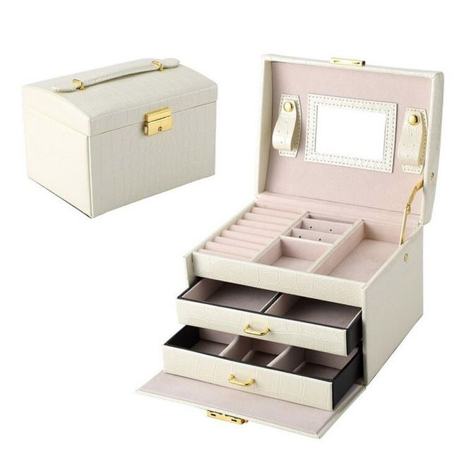 High quality PU Leather Jewelry box Organizer Bracelets Earring&Ring Storage box Casket case Necklace container Box Collection-in Storage Boxes & Bins from Home & Garden on Aliexpress.com | Alibaba Group