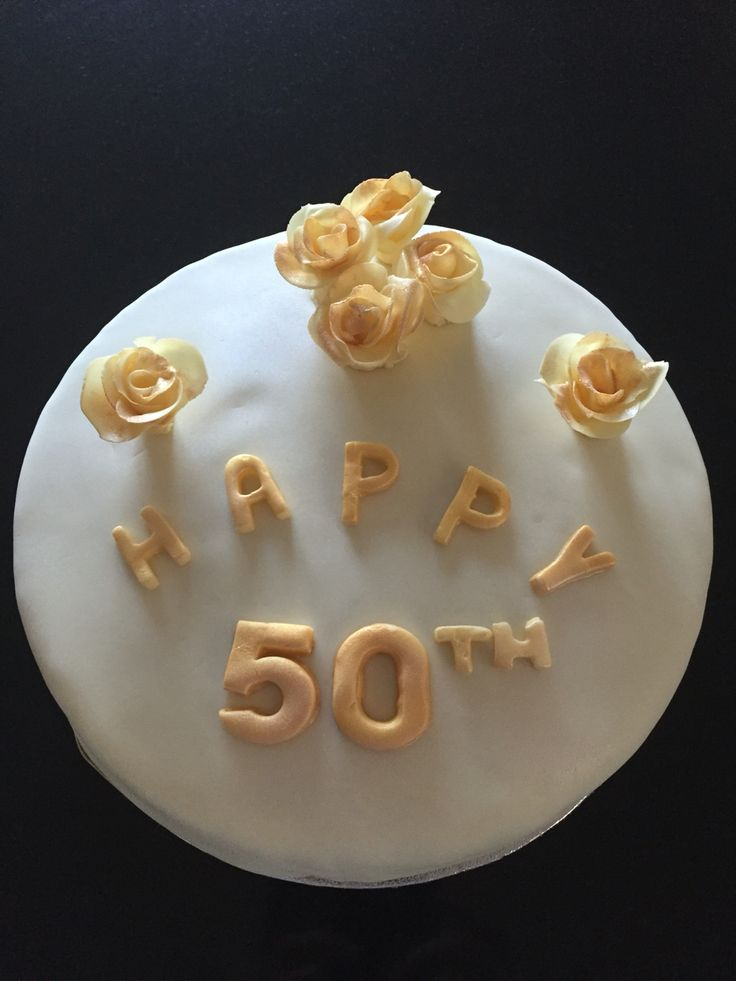 50th Anniversary Cake (not one of my best 😢)