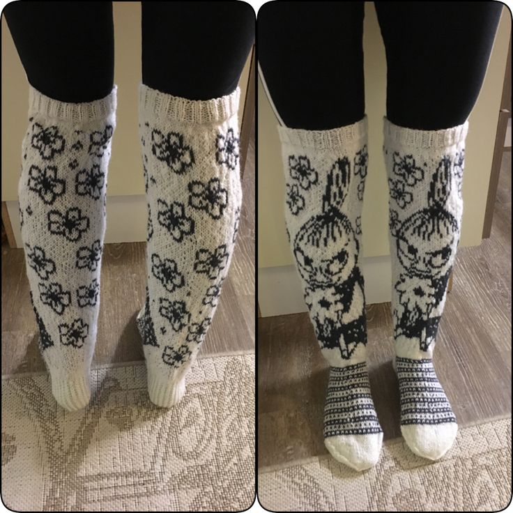 Knitted kneesocks with littlemyy from moomin