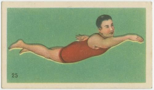 """How to swim.""  One in a series of Chinese cigarette cards from the George Arents collection.: Chine Art, Art Cards, Chine Cigarette, Cigarette Cards From, Collection Sum, Chinese Art, Chinese Cigarette, How To, Sports Cards"