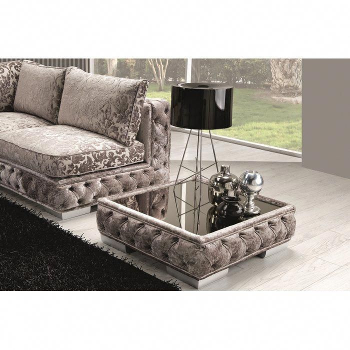 Dunlin Fabric Coffee Table Coffeetabledecorating Glass Top