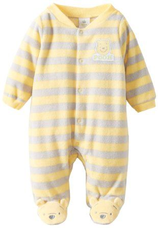 Amazon.com: Disney Baby Unisex-Baby Winnie the Pooh Fleece Newborn Sleep and Play Footie: Clothing