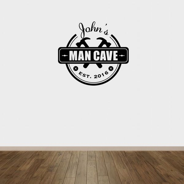 Image of Man Cave Wall Decal