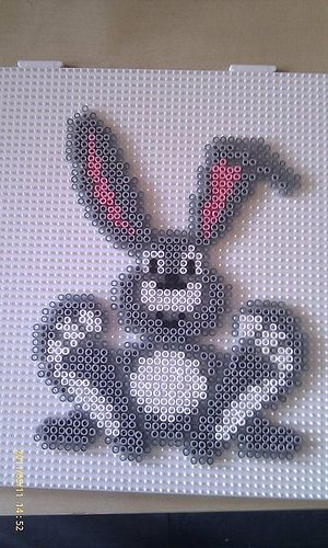 rabbit hama perler beads ...